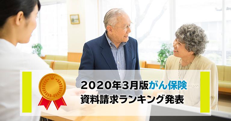 2020年3月 保険市場、がん保険の資料請求ランキングトップは東京海上日動あんしん生命の「がん治療支援保険NEO」