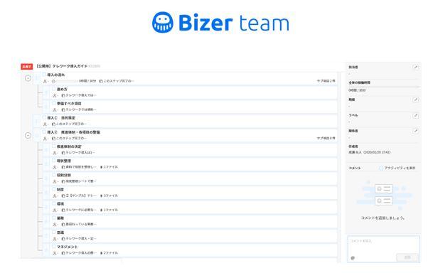 「Bizer team」で利用できるテレワーク導入ガイドのテンプレート-パーソルプロセス&テクノロジー株式会社