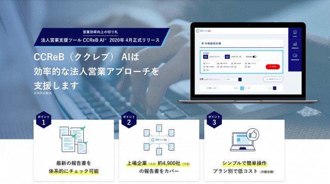 CCReB AI紹介サイト