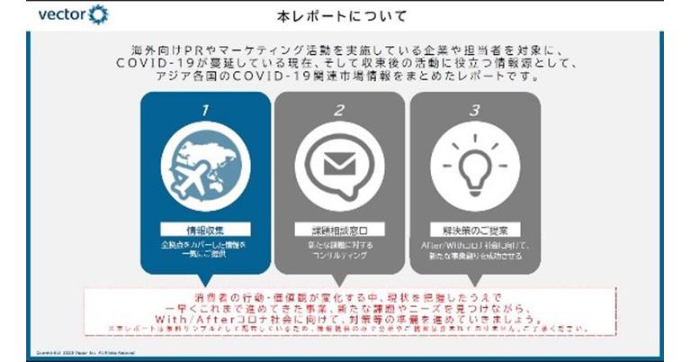 ベクトル、アジア9カ国・地域の新型コロナウイルス関連 市場調査レポート無料配信開始