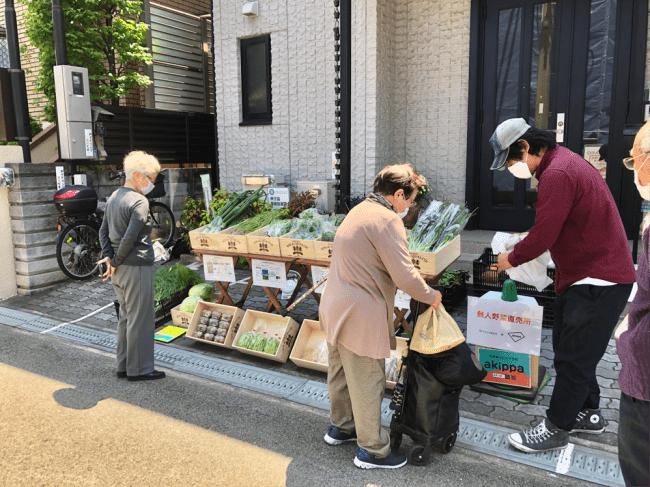 YACYBERと連携し実施した野菜直売所-akippa株式会社
