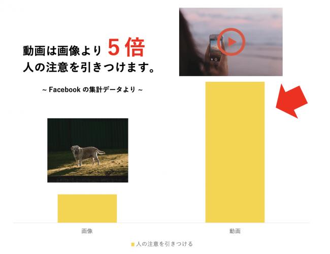 動画は画像より5倍見られる(Facebook社発表)-株式会社popteam