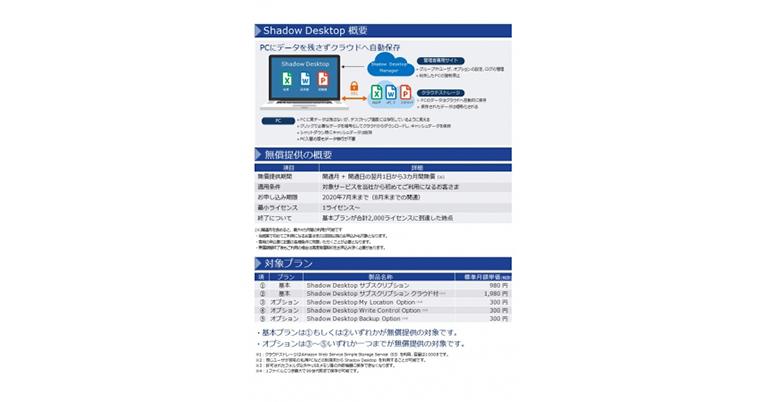 【オリックス・レンテック】セキュリティ対策ソフト「Shadow Desktop」を3カ月間無償提供
