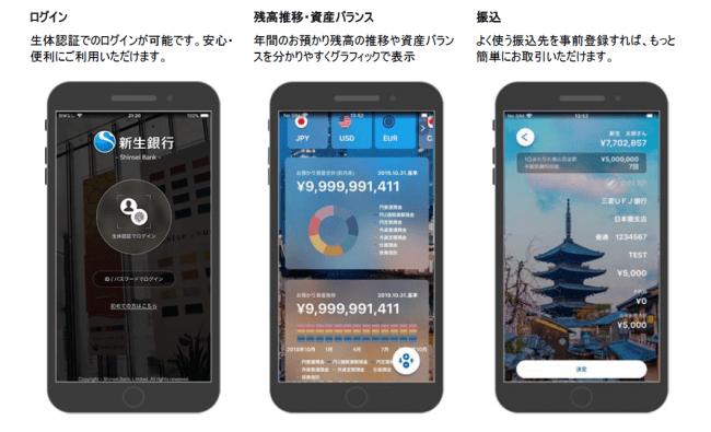主な画面イメージ-株式会社新生銀行