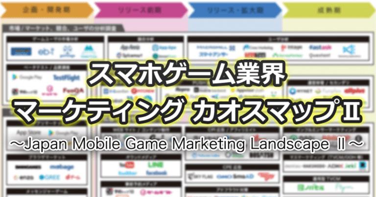 2020年最新トレンドを反映「スマホゲーム業界マーケティングカオスマップⅡ」を公開
