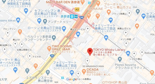 TOKYO Whisky Library アクセス-株式会社Asian Frontier