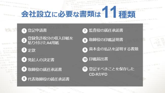 会社設立申請時に必要な書類は11種類-freee株式会社