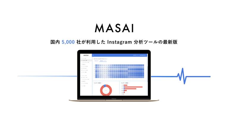 国内5,000社が利用したInstagram分析ツールの最新版「MASAI(マサイ)」を正式リリース