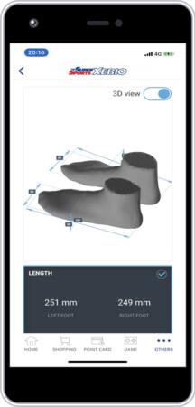 計測結果はスマートフォンのゼビオアプリで確認できます-ゼビオグループ