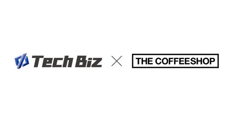 テックビズカード と THE COFFEESHOP のロゴ 画像