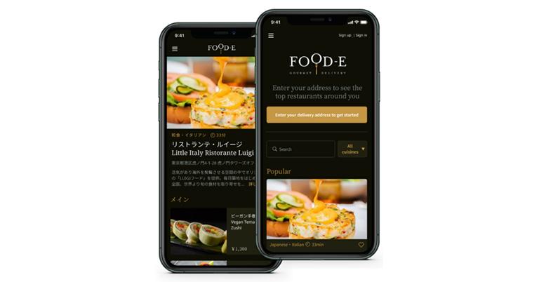 日本初の高級レストランデリバリーブラウザーアプリ、FOOD-Eがサービスを開始