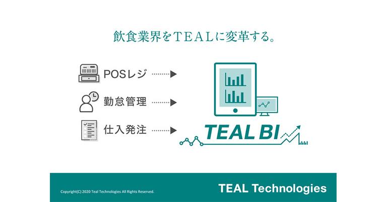 飲食業界初、多店舗管理BIツール「TEAL BI」正式リリース。