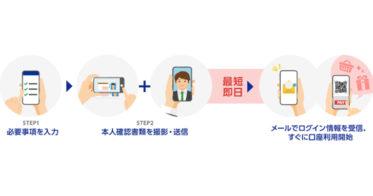 オンラインでの個人向け普通預金口座の即日開設を実現