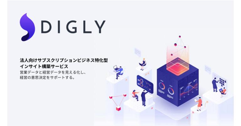 無料から使える!サブスクリプションビジネスのデータを自動で可視化する新サービス「DIGLY」の事前登録を開始