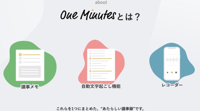 「One Minutes」(ワンミニッツ)とは?-quintet株式会社