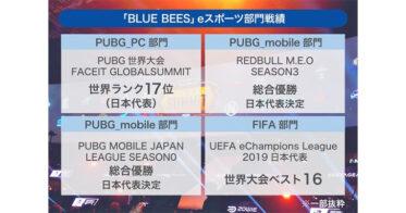 5Gで爆発的に発展する「eスポーツ」に日本から世界一を目指す「BLUE BEES」株式投資型クラウドファンディングを開始