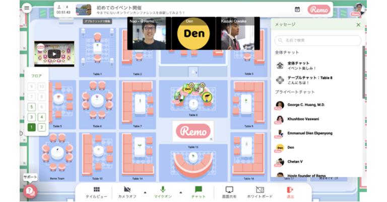 リモート・イベントツールのRemo.coが日本語UIの提供開始