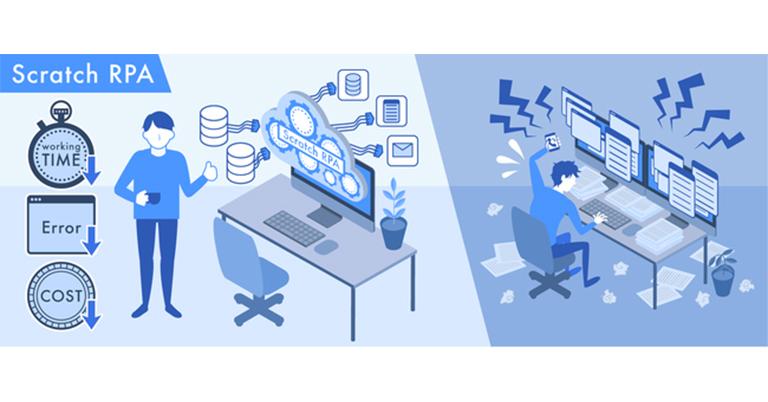 ジーエルシー、汎用RPAツールを適用しにくい領域の業務自動化を実現する『Scratch RPA』の提供を開始