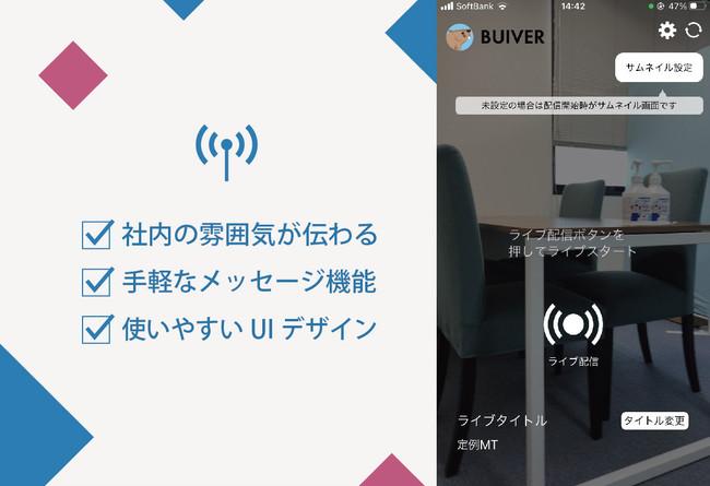 新しいライブ配信型採用サービス「BUIVER(ビーバー) 」
