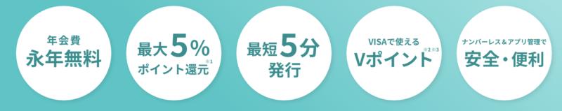 三井住友カード NL ナンバーレス 特徴