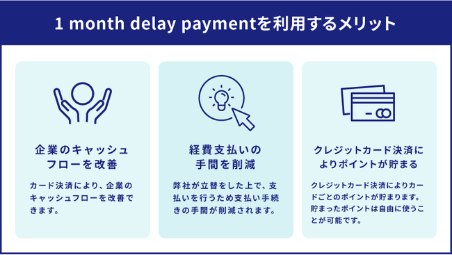 『1month delay payment』のメリット