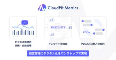 経営管理のデジタル化をワンストップで実現する「CloudFit Metrics」のα版事前申込を開始
