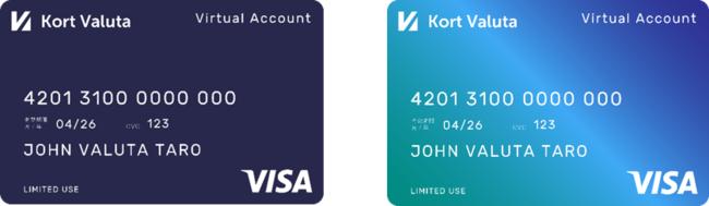 TwooCa Visa バーチャルプリペイドカード 券面画像