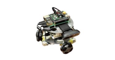 オリジナルのロボット型開発用パソコンは、 超小型パソコン「Raspberry Pi(ラズベリーパイ)」を搭載し、持ち運びも自由。