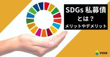 SDGs私募債とは? メリットやデメリット、特徴を詳しく解説