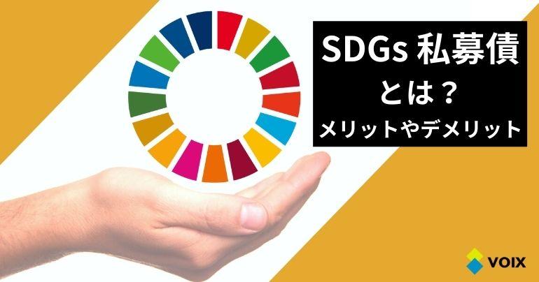 SDGs私募債とは? SDGs私募債のメリットやデメリット、特徴を詳しく解説