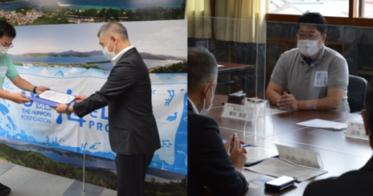 海と日本プロジェクト広報事務局/京都府宮津市が「海ノ民話のまち」として認定!認定委員長が城﨑雅文市長を表敬訪問し、認定証贈呈式を実施しました。