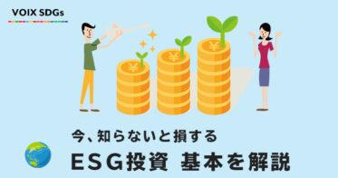 ESG投資とは?SDGsや社会貢献投資との違いを解説